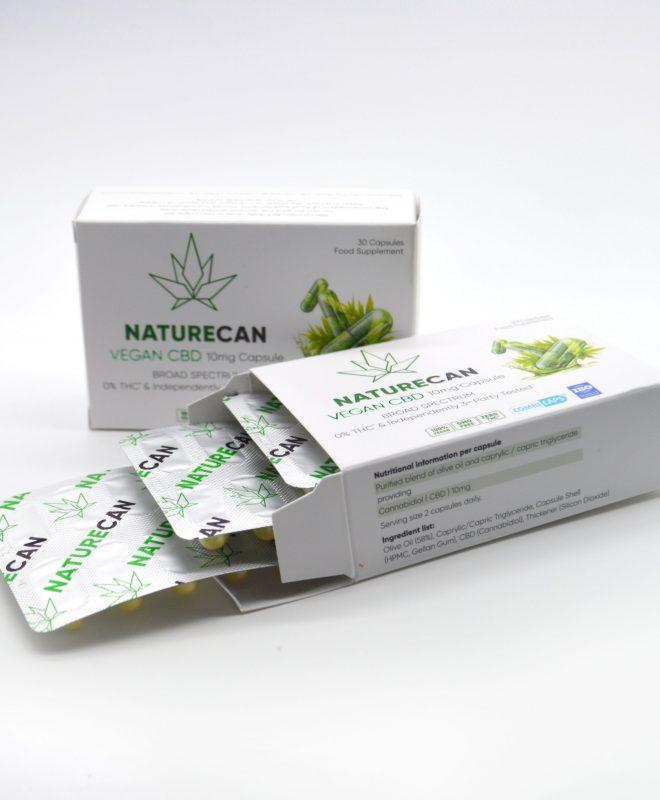 capsulas vegana de CBD
